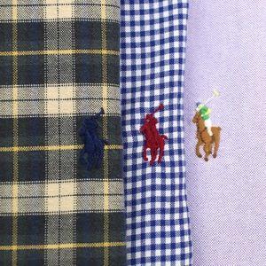 Lot of 3 Ralph Lauren L/S Button Down Shirts XL